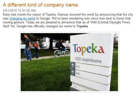 Topeka - The New Google?
