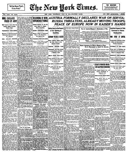 NY Times - 1914