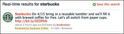 Starbucks Promoted Tweet