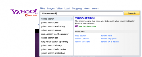 Yahoo! Direct Search