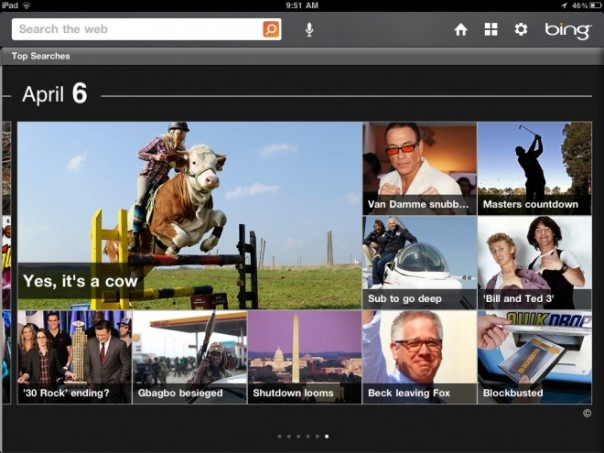 Bing iPad App