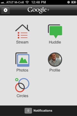 Google+ iPhone App - Screenshot